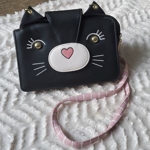 Betsey Johnson Kitty Face Crossbody Envelope Bag